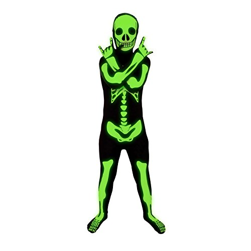 Morphsuits KPSGM - Skelett Halloween Kinder Kostüm, 119-136 cm, Größe (Morphsuit Skelett)