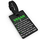 CHSUNHEY étiquettes à Bagages,Funny Vegan I Am Still A Vegan Luggage Tags with Print for Suitcases,Flexible PVC Travel ID Sturdy Identification,Travel Accessories Suitcase Tags Apply3.7X2.2in