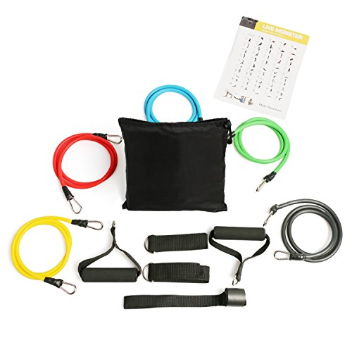 Resistance Band set-Scott Malone Exercise Band Kit, Resistance Band Set, Fitness Tubes with Door Anchor, Ankle Straps, Workout Guide, Carrying Pouch for Building Muscle, Fat Loss, Rehabilitative Exercises, Indoor or Outdoor Use