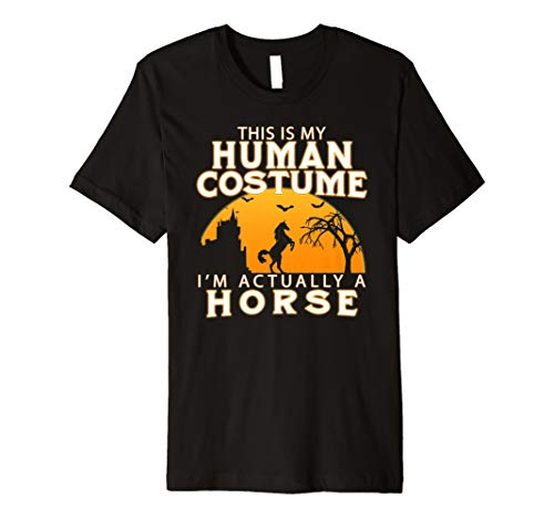 Lustiges Halloween PFerd T-Shirt I'm Actually A Horse