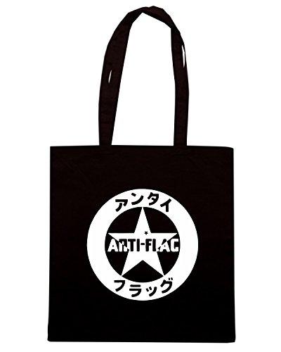 T-Shirtshock - Borsa Shopping FUN0603 anti flag 001 band vinyl decal sticker 45810 Nero