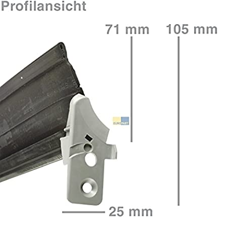 ORIGINAL Bosch Siemens 00298534 298534 Türdichtung Dichtung Türgummi Geschirrspülertür 1-seitig unten Spülmaschine Geschirrspüler auch Balay Bauknecht Küppersbusch