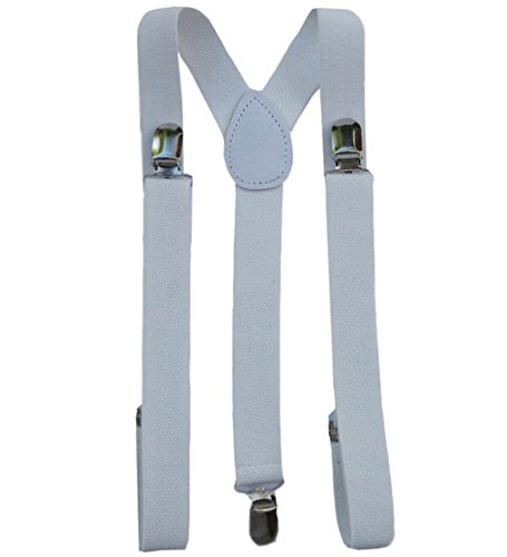 CoverYourHair White Solid Suspenders - Stylish And Practical Solid Suspenders In White