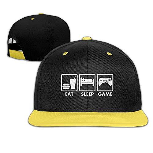Wdskbg Child Hip Hop Baseball Cap and Hats Boys Girl Video Games Eat Sleep