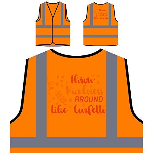 Werfen Freundlichkeit Um Wie Konfetti Personalisierte High Visibility Orange Sicherheitsjacke Weste s369vo