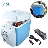 Mini Frigo Refrigeratore E Scalda-Auto | 7.5 L Capienza | Compatto, Portatile E Silenzioso | 12V DC Compatibilità Di Alimentazione (Blu)