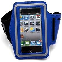 Iphone Neopren Sport-Tasche Sportarmband mit Klettverschluss für Apple iPod & iPhone 2 / 3 / 4 Armtasche Schwarz - ideal beim Sport / joggen etc.