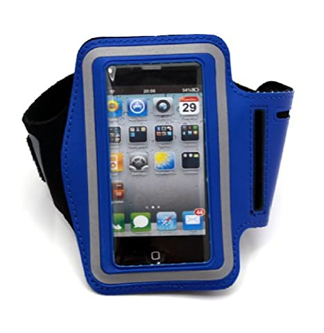 Iphone Neoprene Sports Armband Case with Velcro for iPod & iphone 2/3/4 sleeve pocket black - Perfect for the fitness / jogging