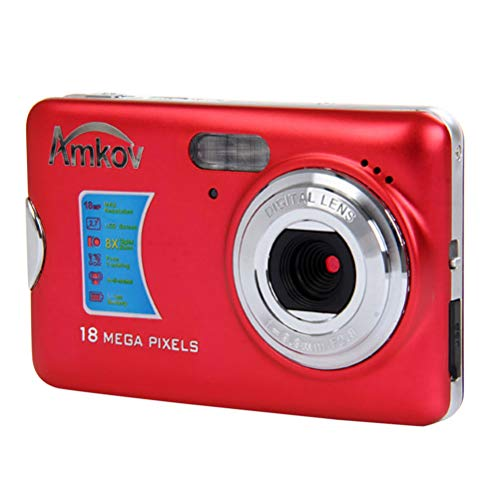 LEDMOMO Amkov CDFE Mini Digitalkamera DVR Super Thin 14 Megapixel Ultra-HD 2,7 Zoll Display Video Camcorder Recorder (Rot)
