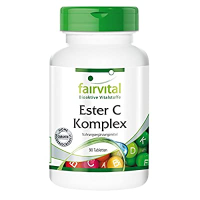 fairvital - Ester C Complex 500mg Vitamin C with Bioflavonoids - Bioavailable & Vegetarian - 90 Tablets (3-Month Supply) from fairvital