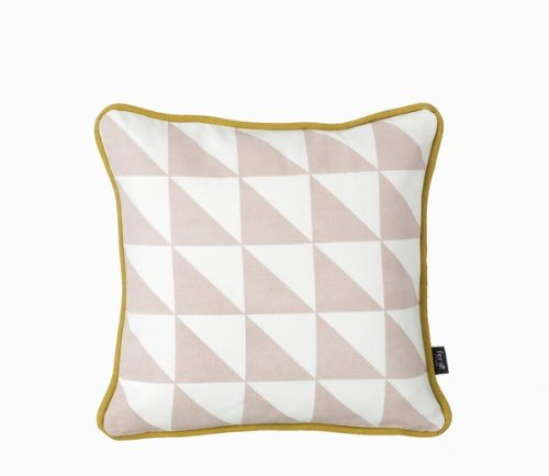 Ferm Living Kissen mit Kissenhülle 30 x 30 cm Little Geometry Cushion - Rose 100 % Baumwolle