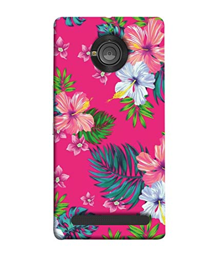 Inktree® Printed Designer Silicon Back Case Cover for YU Yuphoria - Floral Pattern Design