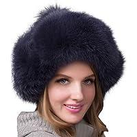 FENICAL Sombrero de Piel montañés Mujeres Moda Estilo Gorro de Invierno cálido para Mujeres niñas (Azul Oscuro)
