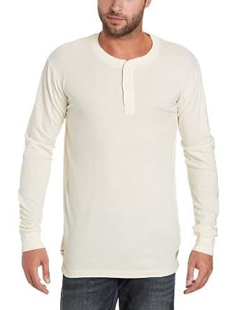 Jack & Jones Rugged Granddad Long Sleeve Men's T-Shirt Whisper Off-White Large