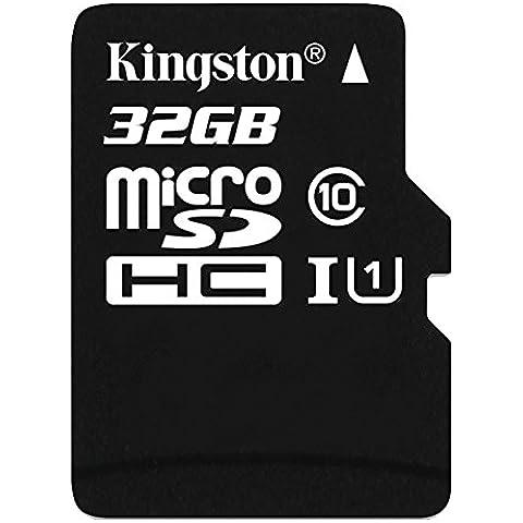 Kingston SDC10/32GBSP - Tarjeta microSD de 32 GB (clase 10, UHS-I), negro