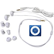 Underwater Audio - iPod Shuffle Impermeable y Sumergible (Waterproof iPod), Paquete con Auriculares Swimbuds (Azul)