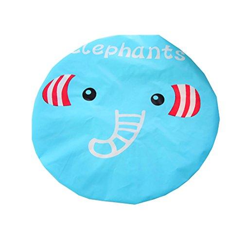 CTGVH - Gorro de ducha de plástico, elástico, diseño de animales, impermeable, para el cuidado del maquillaje, para mujeres y niñas (patrón de elefante)