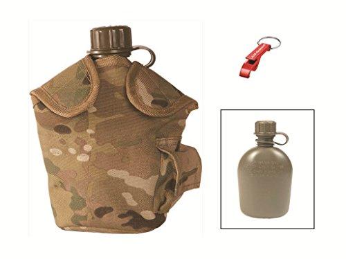 BPA freie FELDFLASCHE + doppelwandige Karabiner Tasse multitarn