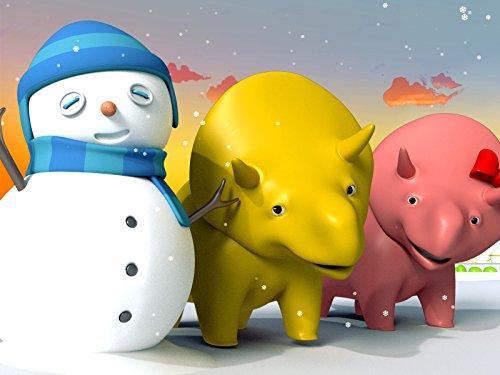 【Weihnachten】Lerne Farben und Zahlen mit Dina und Dino den Dinosauriern : Auspacken von Weihnachtsgeschenken/Bau eines Schnee-Dinosauriers -