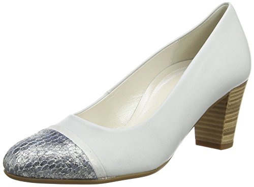 Gabor  Deal,  Damen Pumps , Silber - Silver (Dull Silver Leather/Dark Blue Vipera Glitter) - Größe: 40.5 EU (7 UK)