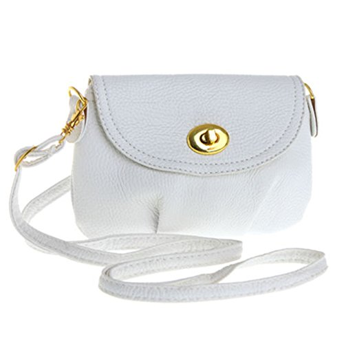 West See, Kleine Damentasche Umhängetasche Citytasche Schultertasche Handtasche, Farbenwahl (Weiß) -