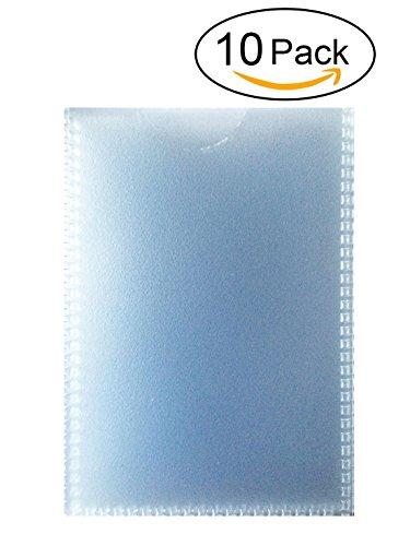 10 dünne Ausweishüllen Scheckkartenhüllen Dokumentenhüllen 90 x 56mm flexibel transparent