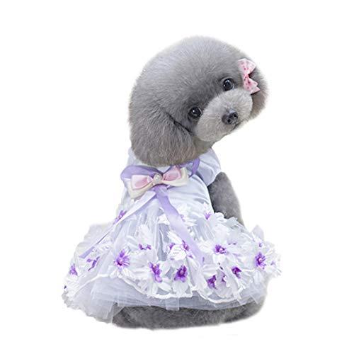 Dobbi Dog Cute Schleife Spitze Kleid Haustier Kleidung Prinzessinkleid Pet Kostüme Hochzeitskleid...
