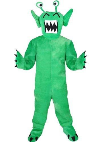 Kostüm Monster Maskottchen - Monster grün Einheitsgrösse XXL Kostüm Faschig Karneval Maskottchen Halloween