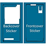 Set de 2 etiquetas/folios adhesivos delantero y trasero resistentes al agua impermeables para Sony Xperia Z3 MMOBIEL.
