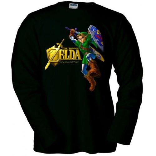 camiseta-zelda-ocarina-of-time-gold-negra-manga-larga-talla-talla-l