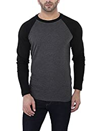 Katso Men's Cotton Round Neck T-shirt(Dark Grey)