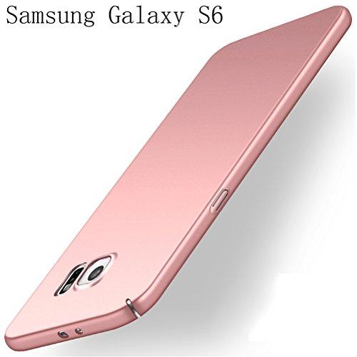 Samsung Galaxy S6 Hülle Adamark Anti-Scratch Ultra Slim Federleicht Anti-dropping Schrubben PC Hart Schutzhülle Stoßfest Schutz Tasche Schale Hardcase für Samsung Galaxy S6 (rosé gold)