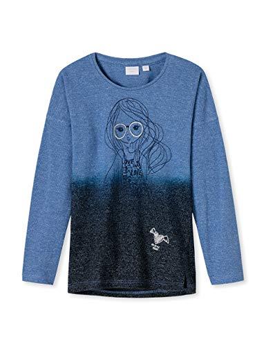 Schiesser Mädchen Just Love 1/1 T-Shirt Blau (Blau 800), 104 (Herstellergröße: 104)
