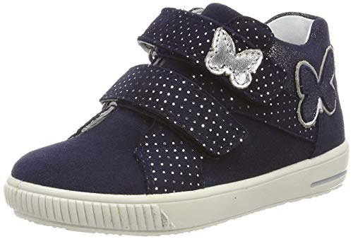 Superfit Baby Mädchen Moppy Sneaker, (Blau 80), 24 EU