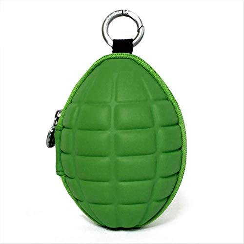 RERU Caso chiave Pu portafogli portachiavi mens unisex auricolare ovale borsa governante per chiavi dell'organizzatore della borsa per auto portachiavi verde sfuso