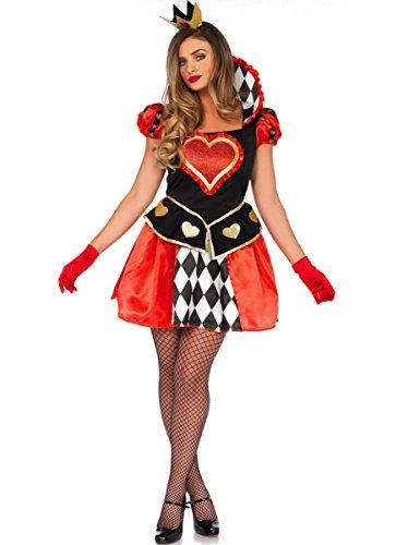Hearts Damen Queen Of Kostüm - Wonderland W5040301101 Queen of Hearts Damenkostüme, Damen, Mehrfarbig, Größe S (EUR34-36)