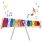 mAjglgE Holz-Xylophon, Percussion, Musikinstrument, Lernspielzeug für Kinder