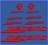 Ecoshirt 7S-O9QS-JKOQ Pegatinas Megamo Fram Dr1117 Vinilo Adesivi Decal Aufkleber Клей MTB Stickers Bike, Rojo