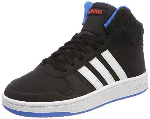 adidas Unisex-Kinder Vs Hoops Mid 2.0 Gymnastikschuhe, Mehrfarbig (Core Black/Ftwr White/Bright Blue), 38 EU