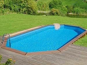 Kit piscine bois Sunbay HUDSON ovale 8.85x4.85x1.48m Sunbay 620005