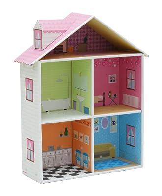 Krooom K-216 - Casa de muñecas de cartón reciclado [importado de Alemania] de Krooom
