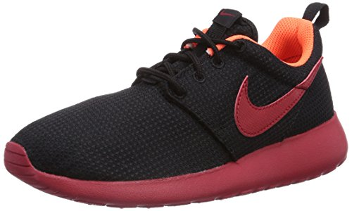 Nike - Zapatillas de running Roshe Run, Niños, Negro (Black/Gym Red-Hyper Crimson), 32