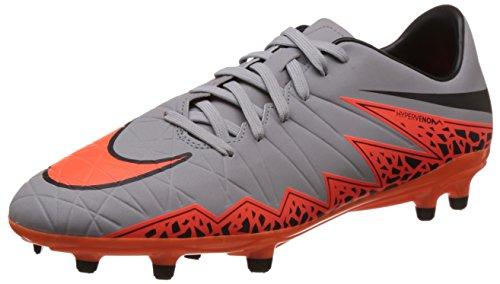 Nike Hypervenom Phelon II FG, Chaussures de Football Homme Gris (Grau/Orange)