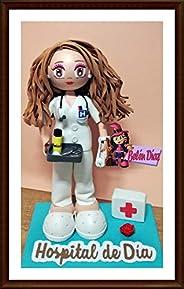 Fofucha Enfermera hospital personalizada uniforme blanco