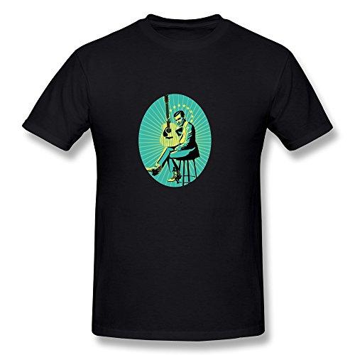 Herren's George Jones T-shirt - schwarz Large