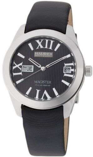 Haurex Italy Ladies Watch FA356DN1 Magister L with Black Dial and Black Fabric Strap