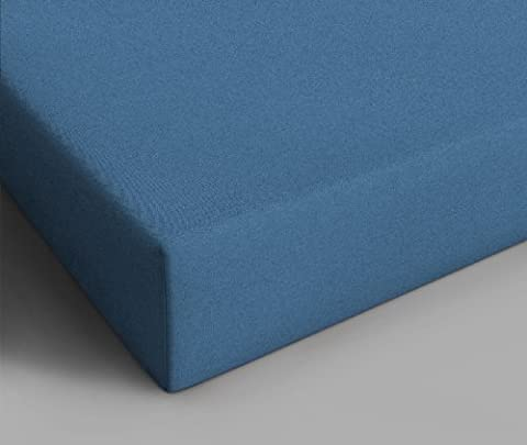 Home Care Jersey Drap Housse Bleu