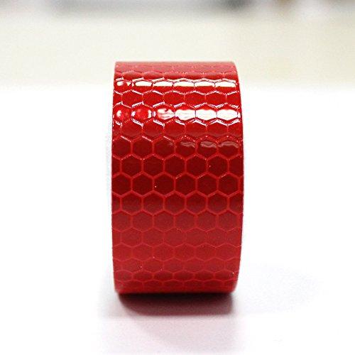 Maiqiken 1 Rolle Reflektor Streifen Rot Selbstklebende Für Auto LKW Anhänger Sicherheit Warnung Reflektorband Tape Aufkleber 5CM x 3M -