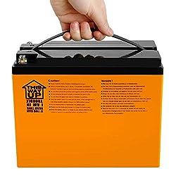 Exmate 12.8V 42Ah LiFePO4 Freizeitbatterie für Wohnmobile, Wohnmobile, Caravans, Marineschiffe, Golfwagen