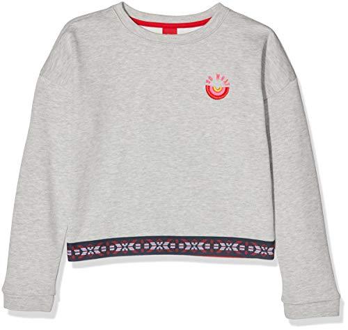 s.Oliver Mädchen 66.909.41.2566 Sweatshirt, Grau (Grey Melange 9400), 164 (Herstellergröße: L/REG)